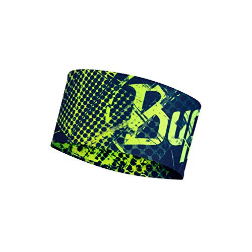 Original Buff Coolnet UV+ Headband Havoc Blue Cinta, Unisex Adulto, Talla única