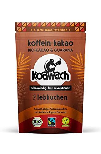 koawach Typ Lebkuchen Kakaopulver mit Koffein aus Guarana Koffein Kakao - Bio, vegan und Fair Trade 500g