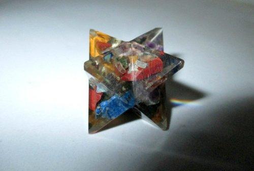 Gracy Jewels DNA Fantástico Orgón Merkaba Geometría Sagrada Aura platónica Curación Genuino Cristal Divina Protección EMF Metafísica Vital energía Vital Piezo Efecto eléctrico w/Bolsa