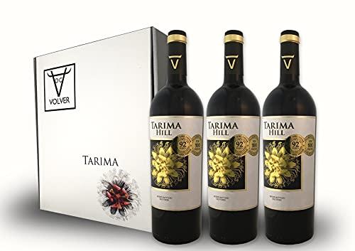 BODEGAS Y VIÑEDOS VOLVER | Vino Tinto Tarima Hill | Pack de 3 Botellas | Variedad 100% Monastrell | Denominación de Origen Alicante | Cosecha de 2017 | (3 Botellas x 750 ml) |