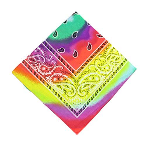 Kviklo 1 Stk /12 Stk Bandanas Halsmanschettenschal für Männer Frauen Multifunktionales TuchTie-Dye Farbverlauf Kopfwickelschal Armband Stirnbänder (Grün-1 stk)