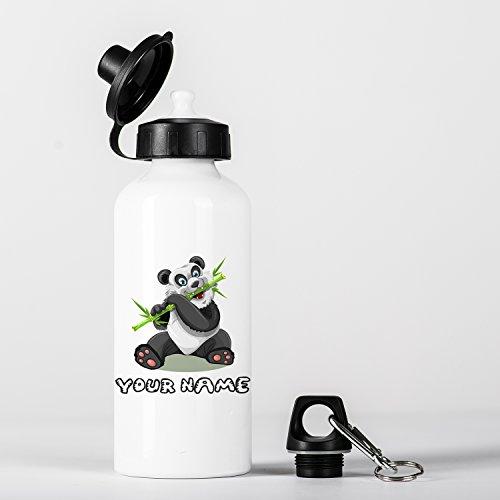 Customized Panda Bamboo Children Kids Personalised Gourde en Aluminium Bottle