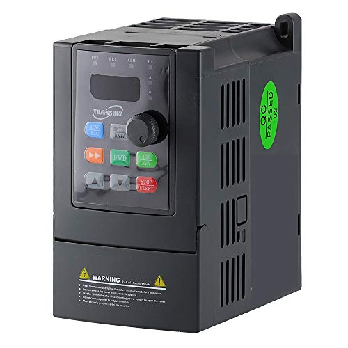 ATO 1 hp 0.75kW VFD, Single Phase to Three Phase VFD Variable Frequency Drive for AC Motor Speed Controls