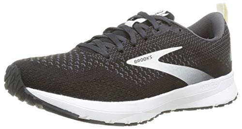 Brooks Revel 4, Zapatillas para Correr para Mujer, Black Oyster Silver, 40.5 EU