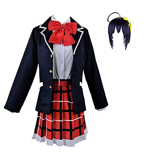 ZZZQCYP Traje de Cosplay de Takanashi Rikka,Otros Disfraces de Cosplay de Anime delirios, Uniforme de Colegiala Japonesa con Calcetines para Halloween