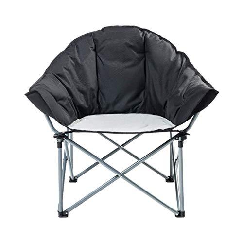 AOIWE Silla Plegable Que acampa Portable de Camp Silla Silla de la Pesca Plegable for Trabajo Pesado Interior y Exterior Ocio Tumbona, Negro