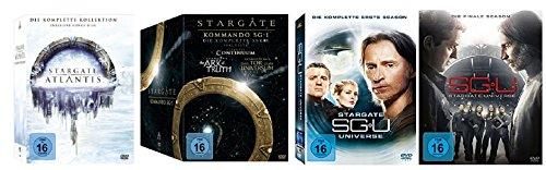 Stargate Atlantis Box + Stargate Kommando SG-1 Box + Stargate Universe 1+2 / DVD Set