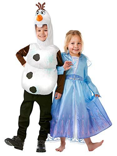 Rubie's 300509 - Costume da Frozen Disney, unisex, per bambini, multicolore