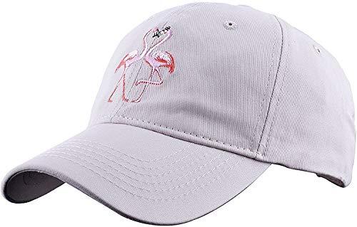 Goed ontworpen Verstelbare Petten Paar Flamingo Embroidery 100% Katoen Baseballcap Producten Heren Hoed Goed cadeau voor vrienden ap (Color : Beige)