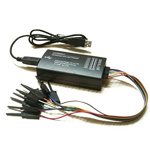 ROEAM Virtual Oscilloscope,Logic Analyzer Multifunktionaler Signalgenerator mit vollem Funktionsumfang und maximaler Abtastrate von 16 MHz