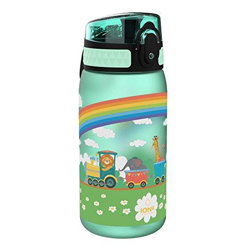 ion8 auslaufsichere Kinder Trinkflasche, Tierzug, 350ml