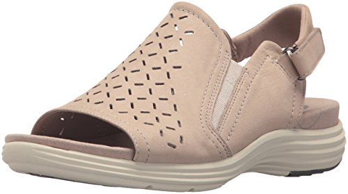 Aravon Women's Beaumont Peep Sling Sandal, dove, 9 2E US