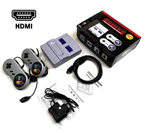 O RLY Retro Classic Mini Console HDMI - Wird mit Zwei Bediengriffen geliefert - 821 Klassische Videospiele