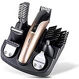 Cortadora de cabello profesional, cabeza de aceite retro talladora eléctrica Clipper Multifuncional Clipper Hair Set recargable Electric Fader Gold