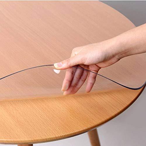 XINZB Redonda Cristal Mantel Transparente,protección contra El Calor Impermeable Protector De Tablero Mantel De Mesa Suave Vinilo PVC Protector para Mesa-2.0mm-Diámetro:120cm(47pulgada)
