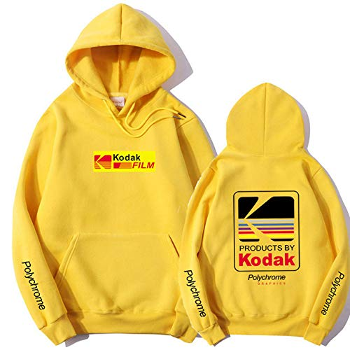 HNOSD Neue 2019 Hoodie Sweatshirt Männer Frauen Mode Herbst Winter Streetwear Hoodies Hip Hop Kodak Hoodies Männer Gelb XMS98 M