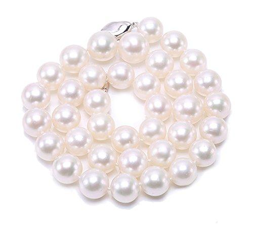 JYX - Collana di vere perle dei mari del sud da 12 - 14,5 mm, lunghezza 45,7cm