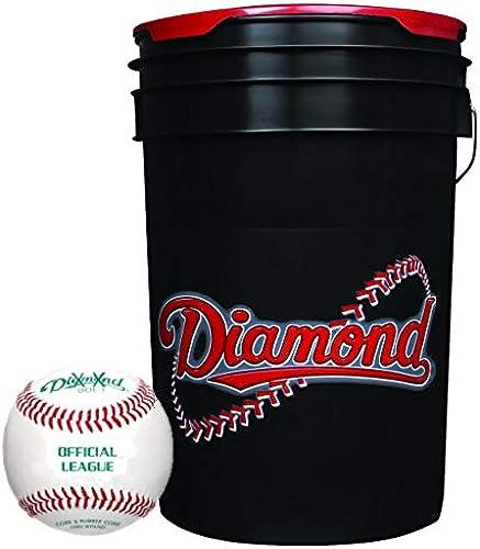 Diamond Balleimer mit 30 BLEM übungs-Baseballs aus Leder