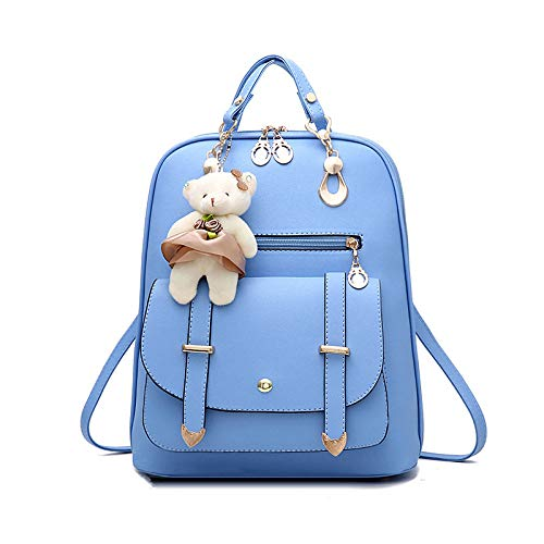 CMZ Backpack Female Fashion Student Bag Leisure and Comfortable Waterproof Travel Large Capacity Pure Color Simple Backpack