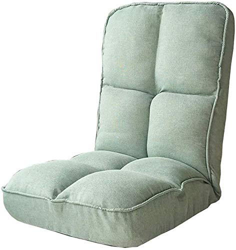 Faule Sofa Klappstuhl komfortabel, ohne Beine 5-Gang-Adjustment Lässige faltbare Computer Stuhl einfach zu entfernen und Waschen Schlafzimmer Wohnzimmer Lounge Chair 1.15 ( Color : Light Green )
