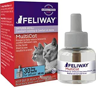 Feliway MultiCat Diffuser Refill (48 mL) | Constant Harmony & Calming Between Cats at Home