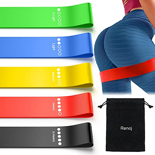 Stretch Bands Exercise Workout Bands for Booty Resistance Bands Set with Instruction Guide and Carry Bag