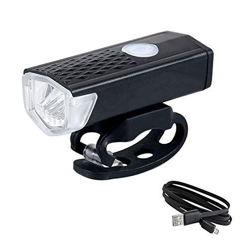 SAHWIN Luces para Bicicleta LED Impermeable, Delantera Y Trasera Recargable USB, 3 Modos De Lluminación Linterna Batería De 800 Lumen para Ciclismo Carretera Y Montaña para La Noche