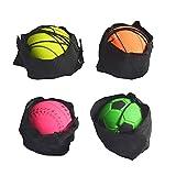 Huaxingda Bola de muñequera Hinchable de 4 Piezas, Pelota Deportiva de Rebote de muñequera, fácil de Usar, Bola de muñecas para Ejercicio de muñeca
