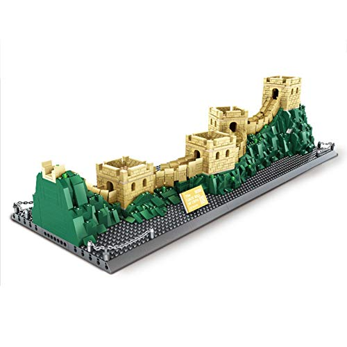 NXNX 1517Pcs-Great Wall of City Building Blocks World Famous Architecture Big Model Toys Regalos
