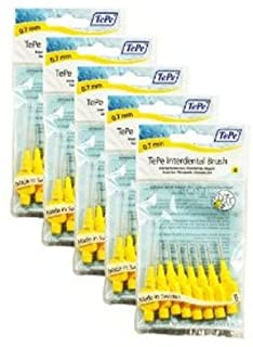 TePe 0.7 mm Size 4 Original Interdental Brush - Pack of 5, Total 40