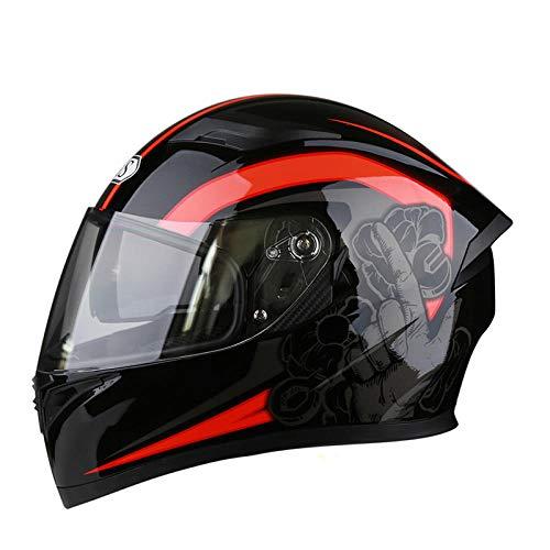 Off-road outdoor motorfiets elektrische helm rijden sporthelm beschermende fietshelm-oranje rood licht, comfortabele en veilige helm_XXXL