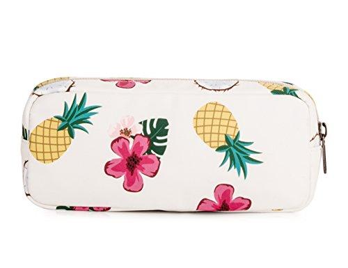 Leaper Pineapple Pen Pencil Case Coin Purse Pouch Cosmetic Makeup Bag Beige