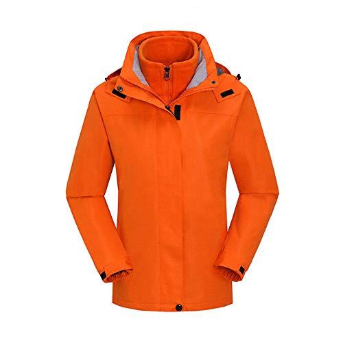 Winterjacke mit Kapuze,Wasserdicht Winddicht Jacke,Abnehmbarer Zweiteiliger Anzug aus dickem und fleecefarbenem Overall-Weiblich H_M #