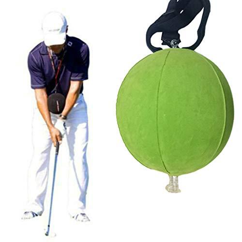 wyxhkj - Palla da Golf Gonfiabile per allenamenti a Dondolo, Strumento di correzione della Postura Regolabile, Attrezzi da Golf per Principianti e lezioni Professionali, Verde