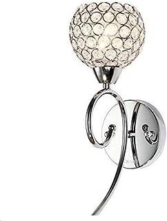 Lightess Modern Wall Sconces Crystal Wall Lamp Glass Bath Light Fixture for Bathroom Bedroom