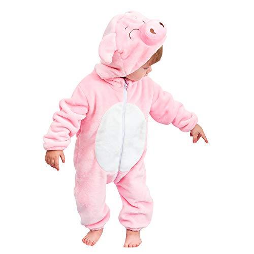 Kids Animal Pajamas Onesie Baby Romper Costume for Boys Girls 70CM 0-6 months