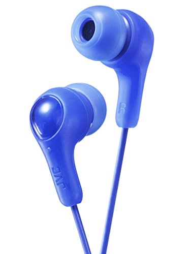 JVC Gumy in Ear Earbud Headphones, Powerful Sound, Comfortable and Secure Fit, Silicone Ear Pieces S/M/L - HAFX7A (Blue) One Size