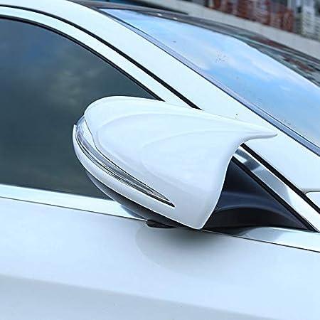 Camisin pour Mercedes C Classe E W205 W213 GLC R/étroviseur Cadre de R/étroviseurs Cache-klaxon de Porte Autocollants Accessoires Noir