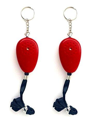 2X Panikalarm zum umhängen mit Schlüsselring inkl. Batterie Taschenarlarm Personenalarm