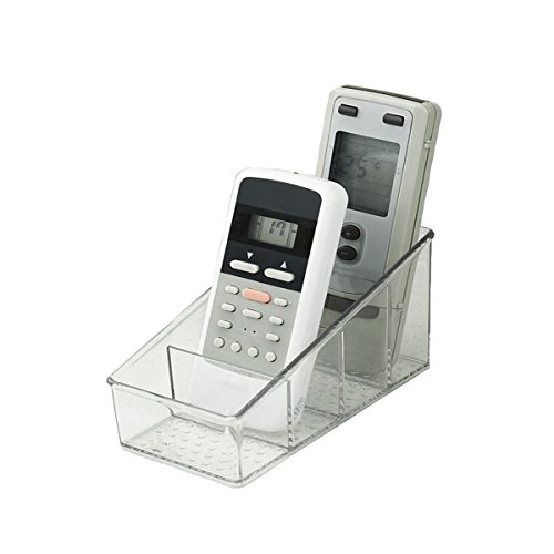 Small Remote Control Holder Transparent Organizer Clear Acrylic Media Storage Box Makeup OrganizerStore tv Remote HoldersBrushPencilGlasses and Media Player