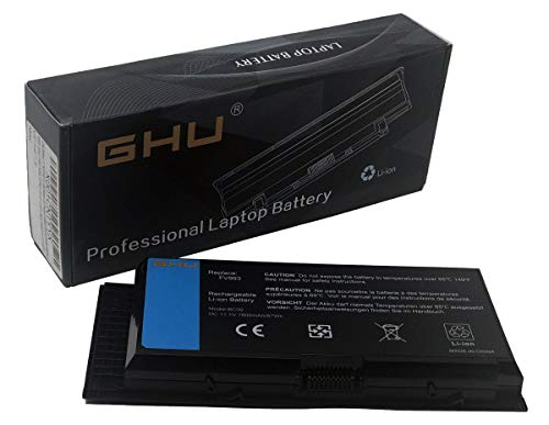 GHU Laptop Battery 11.1V 87Wh Replacement for FV993 PG6RC R7PND 0TN1K5 FJJ4W V7M28 7DWMT JHYP2 K4RDX KJ321 Compatible for Dell Precison M4600 M4700 M4800 M6600 M6800 9-Cell