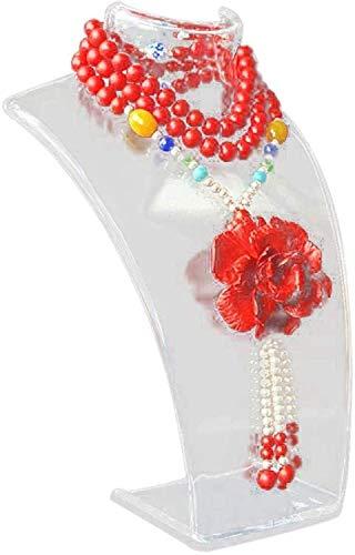 Awningcranks Maniqui Costura Ajustable Maniquí Collar Pendientes Joyería Colgante Soporte de exhibición Soporte Peluca Profesional Modelo de Cuello Estante de exhibición para Tienda de Viajes