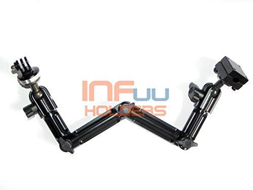 Infuu Holders 040-gp Kopfstützen-Halterung für GoPro Kamera KFZ Camcorder Befestigung Fotostativ aus Metall Aluminium Auto