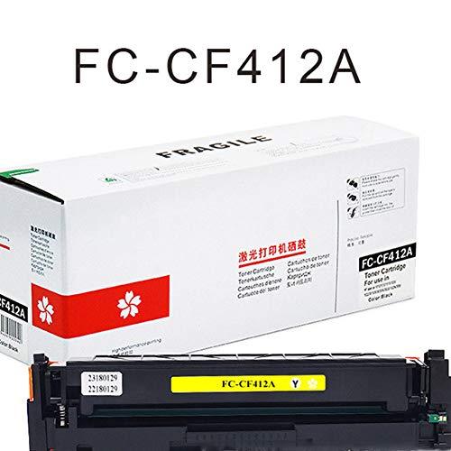 CF410A Cartucho de tóner a color compatible con HP Original CF410A (CF410A, CF411A, CF412A, CF413A) cartucho de tóner, apto para impresora láser color HP M477/M452/M377, color, color amarillo size