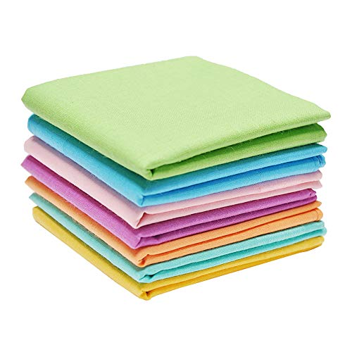 Neatpal 100% Cotton Handkerchiefs with Hem Rainbow Color 7 Pieces