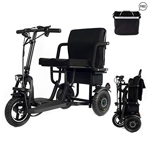 Portátil de viaje plegable de 3 ruedas Scooter de movilidad eléctrica para Scooter eléctrico móvil 120kg peso solo 25kg