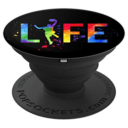 Basketball Herren Ball ist das Leben Aquarell Basketball - PopSockets Ausziehbarer Sockel und Griff für Smartphones und Tablets