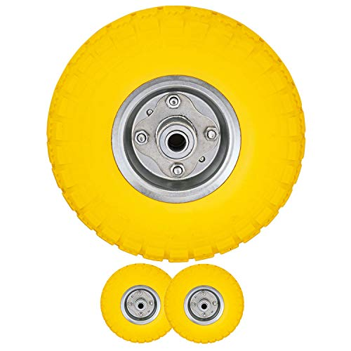 Voche® 2 X 10 Puncture Burst Proof Solid Rubber Sack Truck Trolley Wheels...