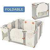 Costzon Baby Playpen, 14-Panel Foldable Kids Safety Activity Center Playard w/Walk-Through...