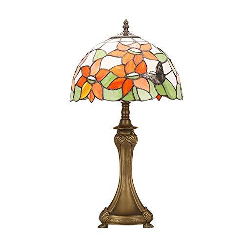 Scra AC Botón Tipo Lámpara de pétalo Cristal Creativo Retro Aleación Dormitorio Sala de Estar Comedor Estudio Lámpara de Mesa/Lámpara de Mesa/Lámpara